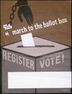 March to the Ballot Box, circa 1975Political Posters Collection