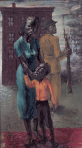 Black Soldier, Wilson, John Woodrow, 1943, Clark Atlanta University Art Museum
