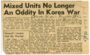 Mixed Units No Longer an Oddity in Korea War, Johnson Publishing Company1950 September 23Johnson Publishing Company clipping files collection