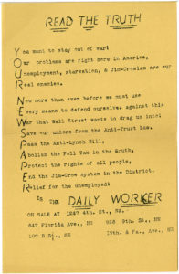Read the Truth, Daily Worker (New York)undatedWorld War II Vertical File