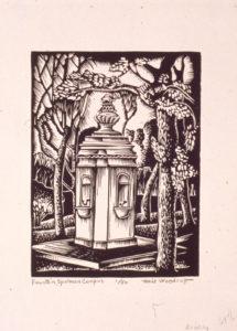 Fountain, Spelman Campus, Woodruff, Hale, 1935, Spelman College Museum of Fine Art