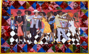 Groovin' High (alt Stompin at the Savoy), Ringgold, Faith, 1986, Spelman College Museum of Fine Art