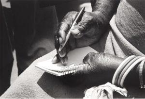 Nelli Mae Rowe's Hands, Lucinda Bunnen, ca. 1979