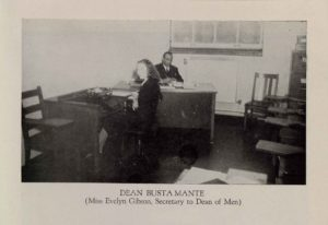 Evelyn Gibson working as secretary to the Dean of Men at Clark College, The Panther, 1946