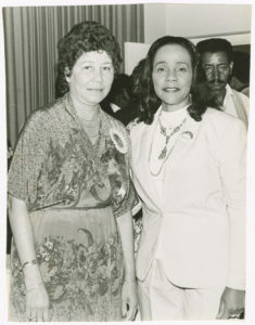 Evelyn Gibson Lowery and Coretta Scott King