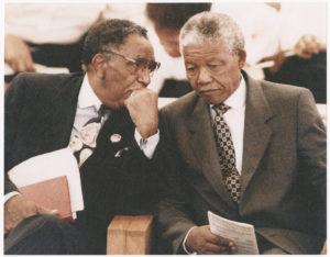 Dr. Joseph Echols Lowery with  Nelson Mandela