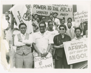 Dr. Joseph Echols Lowery and Evelyn Gibson Lowery  at an SCLC protest
