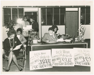 Evelyn Gibson Lowery with others at the SCLC/WOMEN office