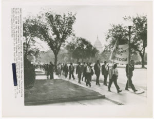 Demonstrators at the March on Washington