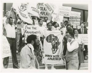 Anti-Apartheid protest