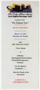 """Brochure, """"Evelyn Gibson Lowery: Civil Rights-Heritage Tour"""", 2013"""