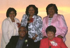 Dr. Joseph Echols Lowery and Evelyn Gibson Lowery with daughters